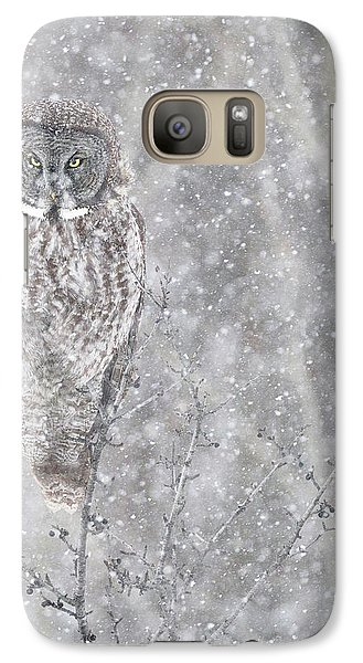 Galaxy Case featuring the photograph Silent Snowfall Portrait by Everet Regal