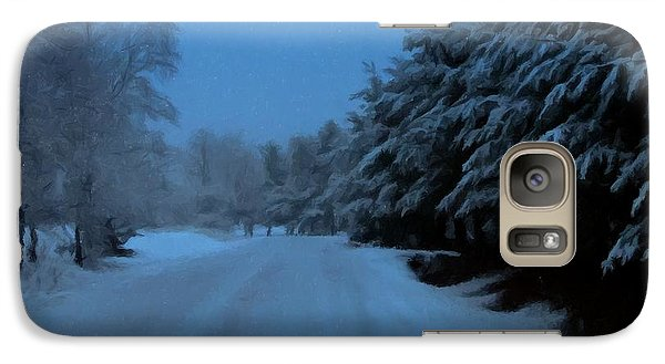 Galaxy Case featuring the photograph Silent Winter Night  by David Dehner