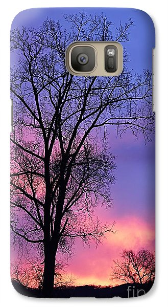 Galaxy Case featuring the photograph Silhouette At Dawn by Larry Ricker