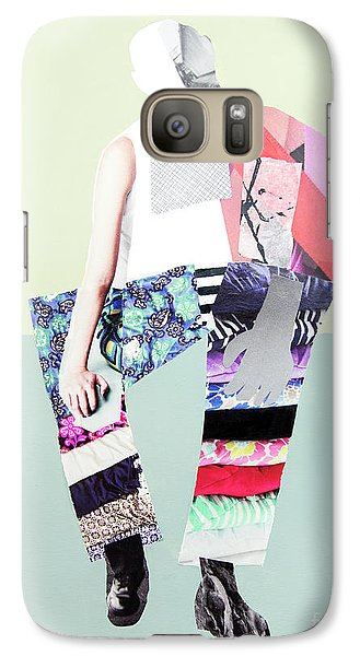 Galaxy Case featuring the mixed media Silhouette by Elena Nosyreva