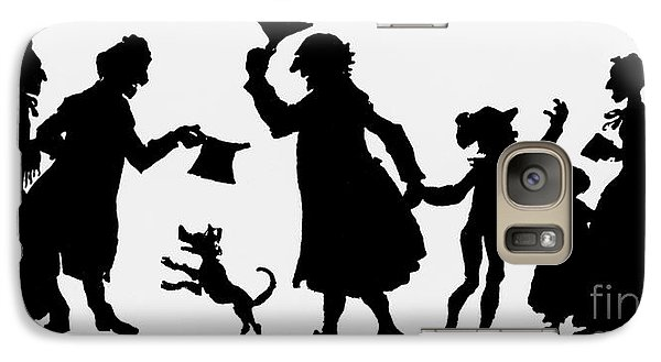 Silhouette Illustration From A Christmas Carol By Charles Dickens Galaxy Case by English School