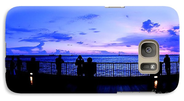 Galaxy Case featuring the photograph Silhouette Of People At Sunset by Yali Shi