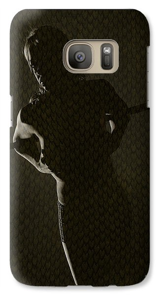 Galaxy Case featuring the photograph Silhouette Of Topless Girl by Michael Edwards
