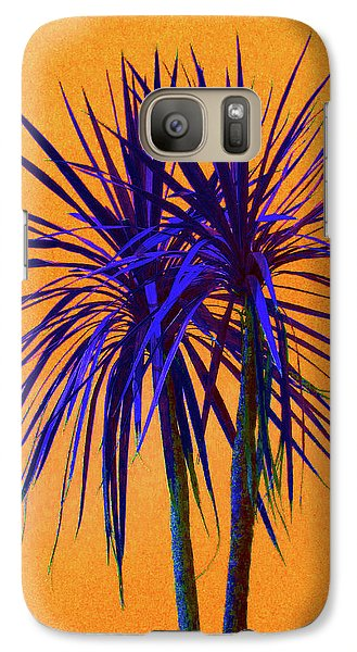Galaxy Case featuring the photograph Silhouette On Orange by Margaret Saheed