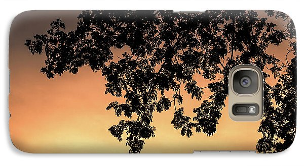 Galaxy Case featuring the photograph Silhouette Tree In The Dawn Sky by Jingjits Photography