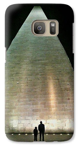 Galaxy Case featuring the photograph Silhouette Washington Memorial by Lorella Schoales