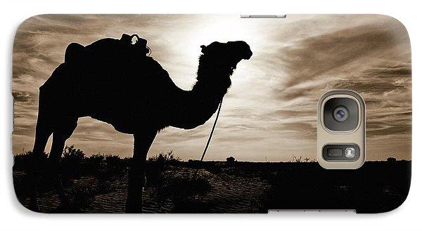 Desert Galaxy S7 Case - Silhouetted Camel, Sahara Desert, Douz by David DuChemin