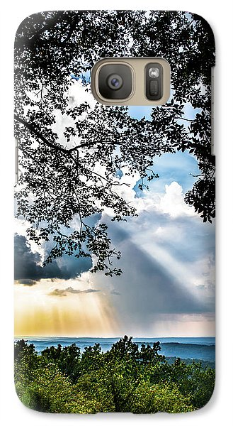 Galaxy Case featuring the photograph Silhouettes At The Overlook by Shelby Young