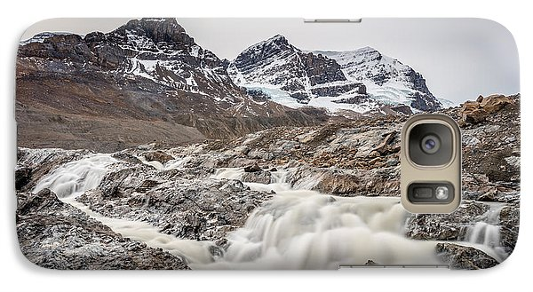 Galaxy Case featuring the photograph Silky Melt Water Of Athabasca Glacier by Pierre Leclerc Photography