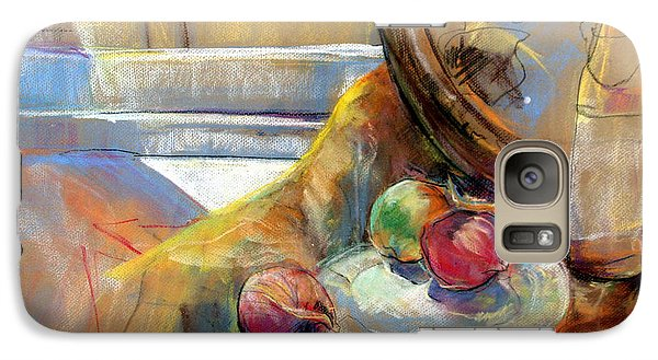 Galaxy Case featuring the painting Sill Life With Onions by Daun Soden-Greene
