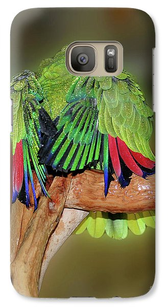 Galaxy Case featuring the photograph Silly Amazon Parrot by Smilin Eyes  Treasures