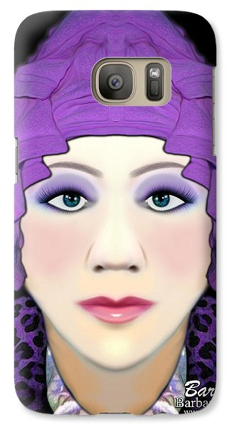 Galaxy Case featuring the photograph Silly Headdress by Barbara Tristan