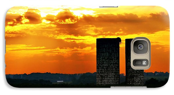 Galaxy Case featuring the photograph Silos At Sunset by Michelle Joseph-Long