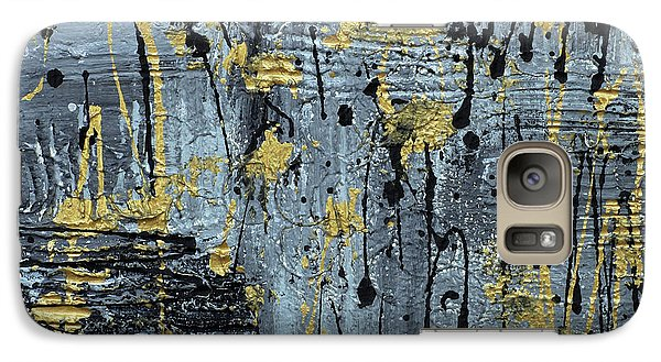 Galaxy Case featuring the painting Silver And Gold  by Cathy Beharriell