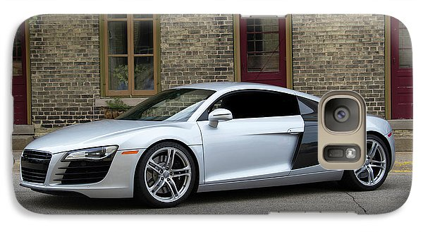 Galaxy Case featuring the photograph Silver Audi R8 by Joel Witmeyer