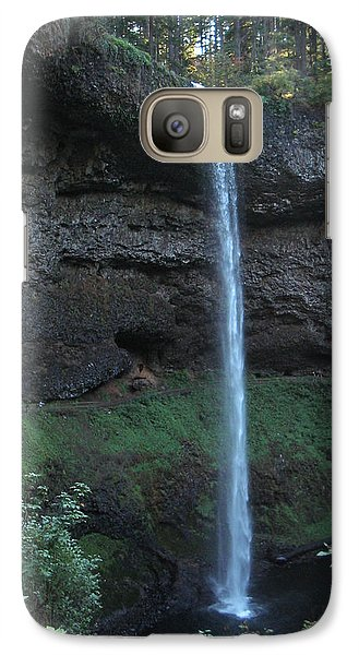 Galaxy Case featuring the photograph Silver Falls by Thomas J Herring