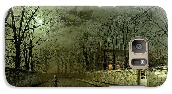 Silver Moonlight Galaxy Case by John Atkinson Grimshaw