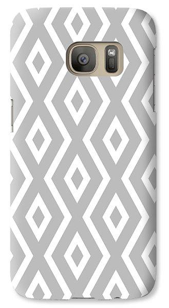 Beach Galaxy S7 Case - Silver Pattern by Christina Rollo