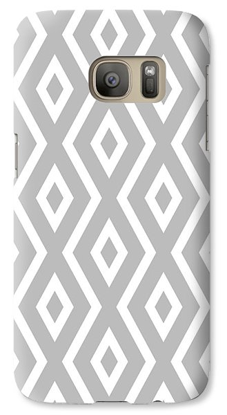 Beach Galaxy S7 Case - Silver Pattern by Christina Rollo