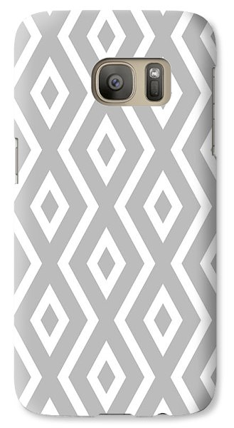 Silver Pattern Galaxy S7 Case by Christina Rollo