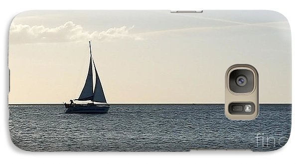 Galaxy Case featuring the photograph Silver Sailboat by Jeanne Forsythe