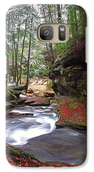 Galaxy Case featuring the photograph Silver Singing River by Jaki Miller