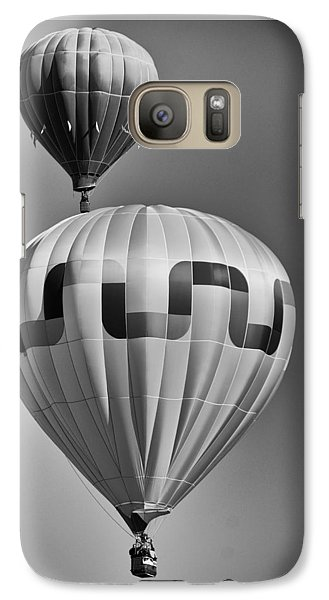 Galaxy Case featuring the photograph Silver Sky Balloons by Kevin Munro
