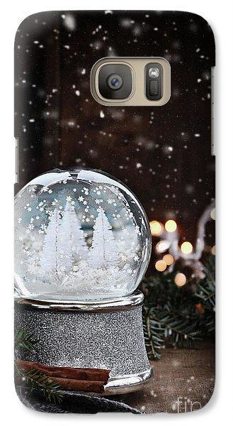 Galaxy Case featuring the photograph Silver Snow Globe by Stephanie Frey
