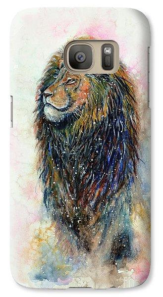 Galaxy Case featuring the painting Simba by Zaira Dzhaubaeva