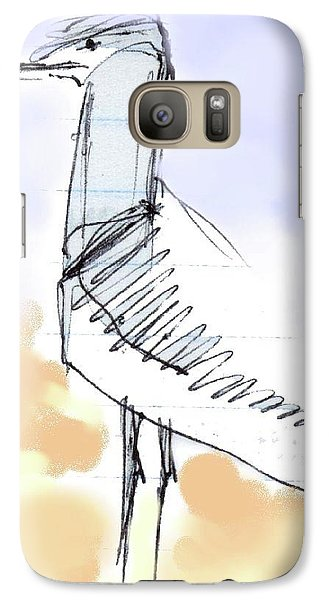 Galaxy Case featuring the drawing Simon by Carolyn Weltman