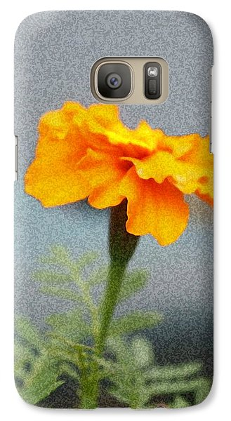 Galaxy Case featuring the photograph Simple Bright Flower by Ellen O'Reilly