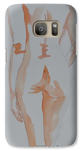 Galaxy Case featuring the painting Simple Nude by Beverley Harper Tinsley