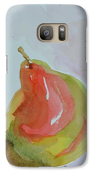 Galaxy Case featuring the painting Simple Pear by Beverley Harper Tinsley