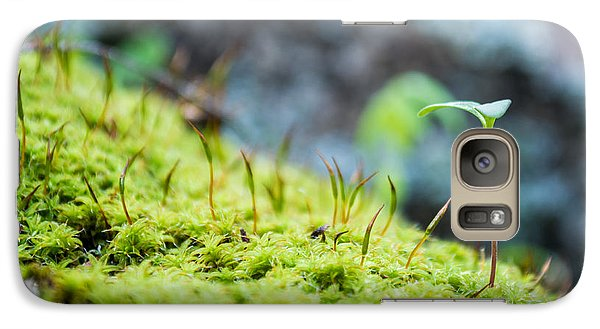 Galaxy Case featuring the photograph Simple Sprout by Rhys Arithson