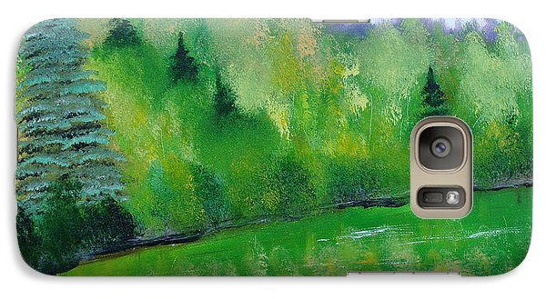 Galaxy Case featuring the painting Simply Green by Rod Jellison