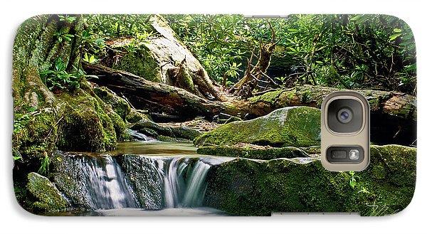 Galaxy Case featuring the photograph Sims Creek Waterfall by Meta Gatschenberger