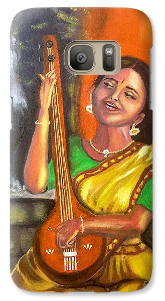 Galaxy Case featuring the painting Singing @ Sunrise  by Brindha Naveen
