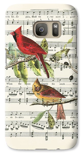 Swallow Galaxy S7 Case - Singing Cardinals by Delphimages Photo Creations