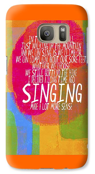 Galaxy Case featuring the painting Singing by Lisa Weedn
