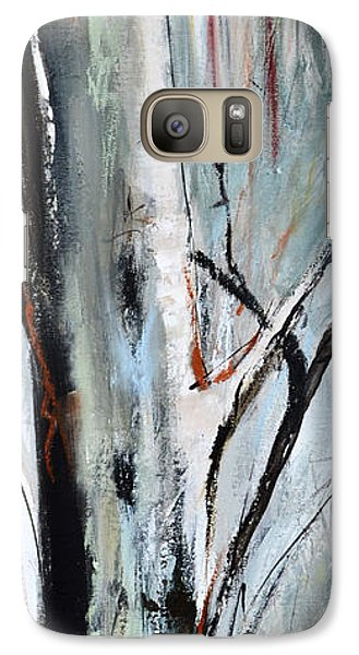 Galaxy Case featuring the painting Single Aspen by Cher Devereaux