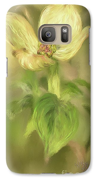 Galaxy Case featuring the digital art Single Dogwood Blossom In Evening Light by Lois Bryan
