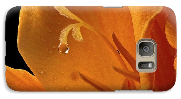 Galaxy Case featuring the photograph Single Drop by Jean Noren