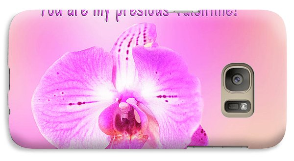 Galaxy Case featuring the photograph Single Orchid Valentine by Linda Phelps
