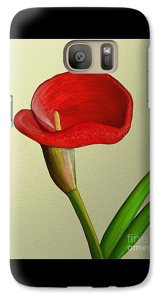 Galaxy Case featuring the painting Single Pose by Rand Herron