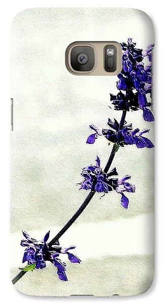 Galaxy Case featuring the photograph Single Stem Bluebonnet by Ellen O'Reilly