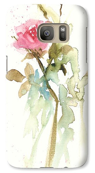 Galaxy Case featuring the painting Single Stem by Sandra Strohschein