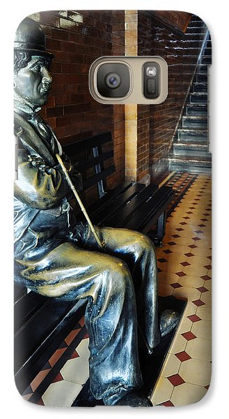 Galaxy Case featuring the photograph Sir Charles Chaplin by Kyle Hanson
