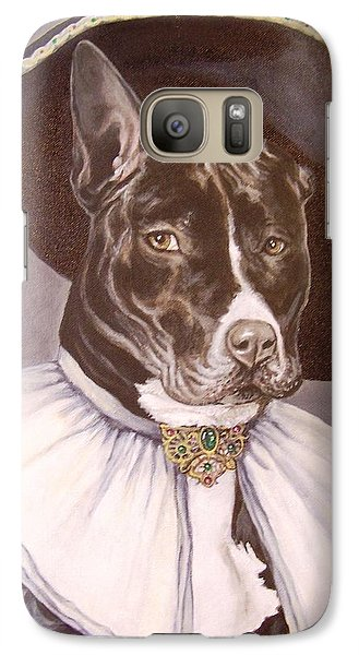 Galaxy Case featuring the painting Sir Pibbles by Laura Aceto