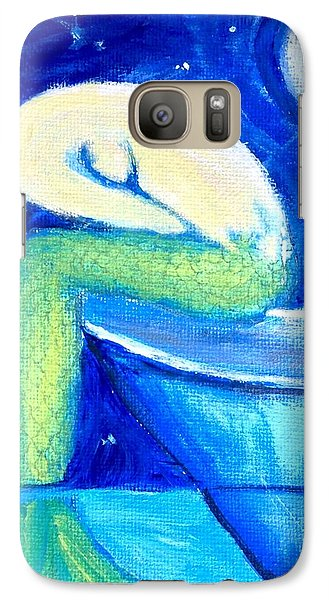 Galaxy Case featuring the painting Siren Sea by Dawn Harrell
