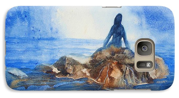 Galaxy Case featuring the painting Siren Song by Marilyn Jacobson